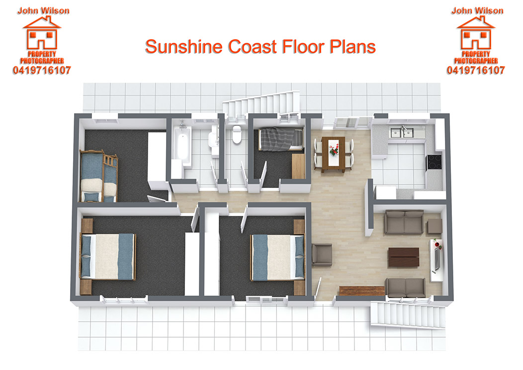 Floor plans sunshine coast real estate floor plans for Floor plans real estate