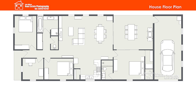 Sunshine Coast floor plan standard