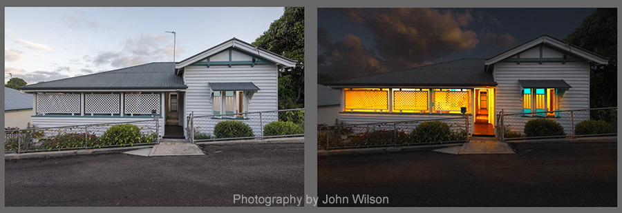 Maryborough photographer dusk property 2