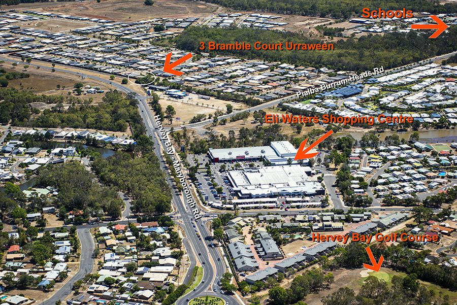 Bramble Crt Hervey Bay aerial photo