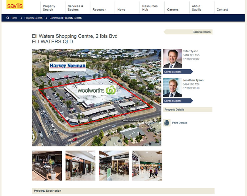 Eli Waters shopping centre sold by savills