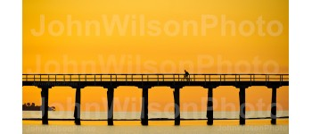 Pier Sunset Fine Art Wall Print