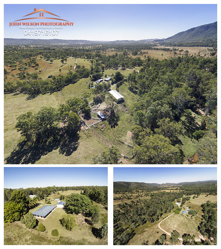 Aerial drone photography gympie