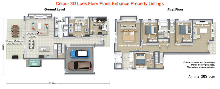 Rainbow Beach Real Estate Floor Plan Service